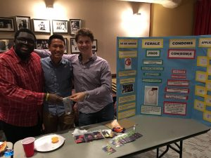 The group and our booth, female condom and all. Used with the permission of Melissa Gonzalez